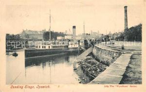AK / Ansichtskarte Ipswich Landing Stage Schiff