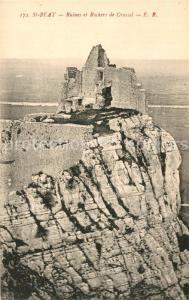 AK / Ansichtskarte Saint Beat Ruines et Rochers de Crussol Saint Beat