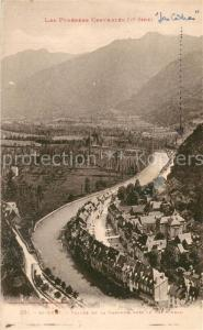 AK / Ansichtskarte Saint Beat Vallee de la Garonne vers le Val d Aran Pyrenees Centrales Saint Beat