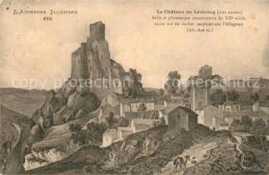 AK / Ansichtskarte Leotoing Chateau Dessin Kuenstlerkarte Leotoing