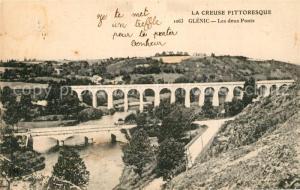 AK / Ansichtskarte Glenic Panorama les deux ponts Glenic