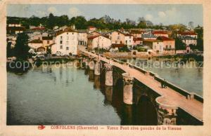AK / Ansichtskarte Confolens Vieux pont rive gauche de la Vienne Confolens