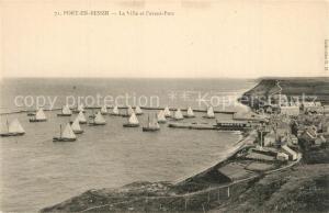AK / Ansichtskarte Port en Bessin La ville et l avant port Port en Bessin