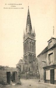 AK / Ansichtskarte Langrune sur Mer Eglise Clocher Langrune sur Mer