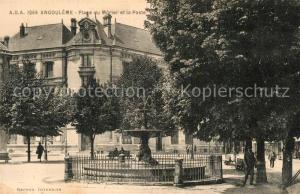 AK / Ansichtskarte Angouleme Place du Murier et la Poste Fontaine Angouleme