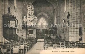 AK / Ansichtskarte Bassac Interieur de l Eglise Bassac
