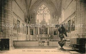 AK / Ansichtskarte Bassac Interieur de l Eglise Le Sanctuaire Bassac