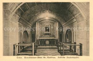 AK / Ansichtskarte Trier Benediktiner Abtei St. Matthias Basilika Gnadenkapelle Trier