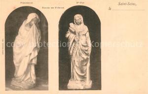 AK / Ansichtskarte Saint Seine l_Abbaye Statues Pleupeuse et Sainte Foy dans l eglise Saint Seine l Abbaye