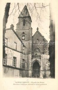 AK / Ansichtskarte Saint Seine l_Abbaye Chapelle des Moines Monument historique Eglise Saint Seine l Abbaye