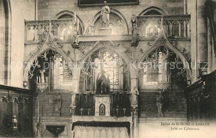 AK / Ansichtskarte Saint Seine l_Abbaye Interieur de l Eglise Jube ou Cyborium Saint Seine l Abbaye 0
