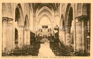 AK / Ansichtskarte Saint Seine l_Abbaye Interieur de l Eglise Saint Seine l Abbaye