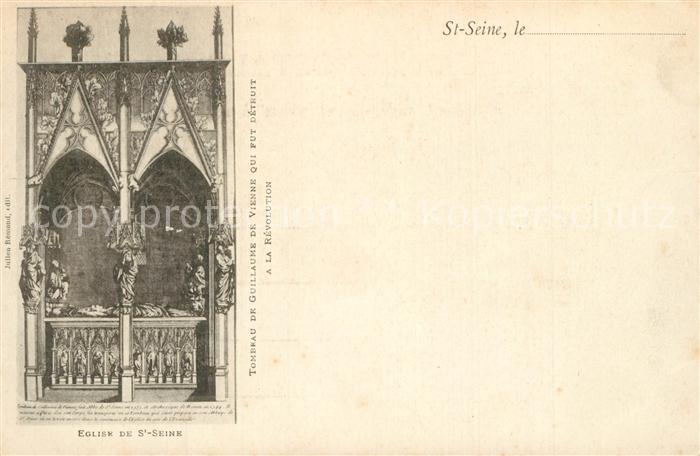 AK / Ansichtskarte Saint Seine l_Abbaye Eglise Tombeau de Guillaume de Vienne Saint Seine l Abbaye 0