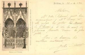 AK / Ansichtskarte Saint Seine l_Abbaye Eglise Tombeau de Guillaume de Vienne Saint Seine l Abbaye