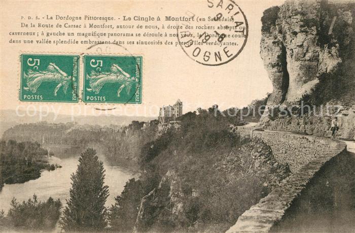 AK / Ansichtskarte Vitrac_Dordogne Le Cingle de Montfort Dordogne Chateau de Montfort Vitrac Dordogne 0