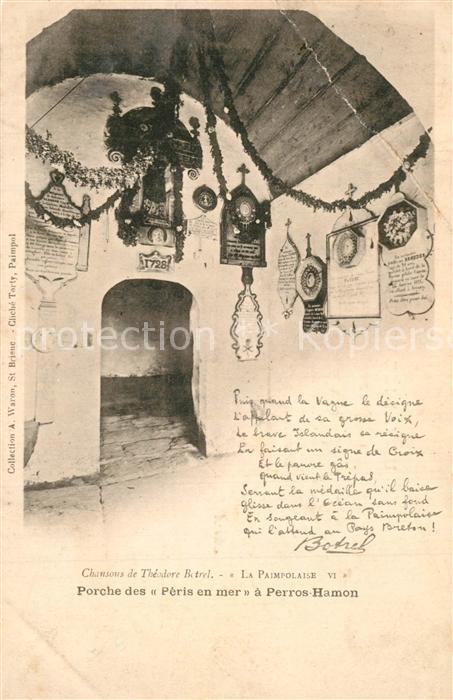 AK / Ansichtskarte Ploubazlanec Chapelle de Perros Hamon Porche des Peris en mer Ploubazlanec 0