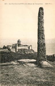 AK / Ansichtskarte Cap_Frehel_Cotes_d_Armor_Bretagne Chateau Fort La Latte et le Doigt de Gargantua Cap_Frehel