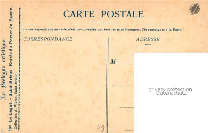AK / Ansichtskarte Saint Brieuc_Cotes d_Armor Entree du Port du Legue Saint Brieuc_Cotes d 1