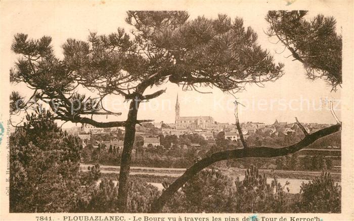 AK / Ansichtskarte Ploubazlanec Le Bourg vu a travers les pins de la Tour de Kerroc h Ploubazlanec 0