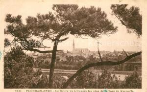 AK / Ansichtskarte Ploubazlanec Le Bourg vu a travers les pins de la Tour de Kerroc h Ploubazlanec