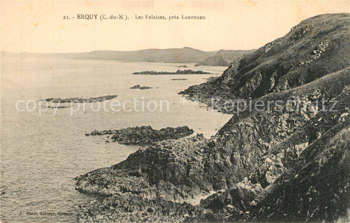 AK / Ansichtskarte Erquy Les Falaises pres Lanrouen Erquy 0