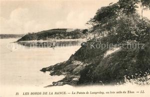 AK / Ansichtskarte Langrolay sur Rance Pointe de Langrolay et au loin celle du Thon Bords de la Rance Langrolay sur Rance
