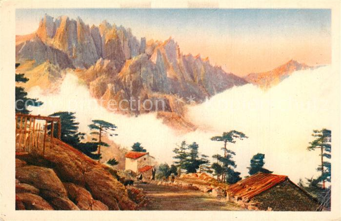 AK / Ansichtskarte Corse_Ile_de Col de Bavella Kuenstlerkarte Corse_Ile_de 0