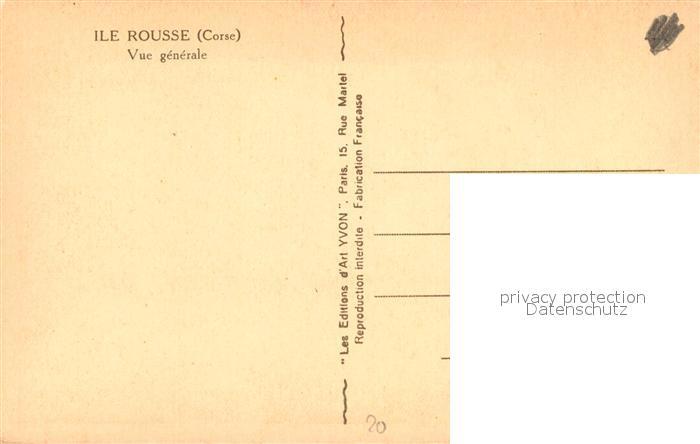 AK / Ansichtskarte Ile_Rousse Vue generale Ile_Rousse 1