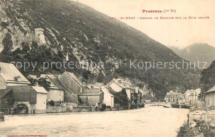 AK / Ansichtskarte Saint Beat Groupe de Maisons sur la rive droite Pyrenees Saint Beat 0