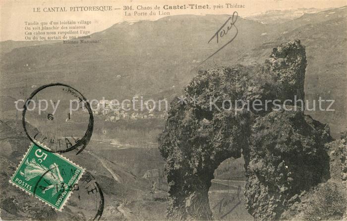 AK / Ansichtskarte Thiezac Chaos de Casteltinet Port du Lion Parc des Volcans d Auvergne Thiezac 0