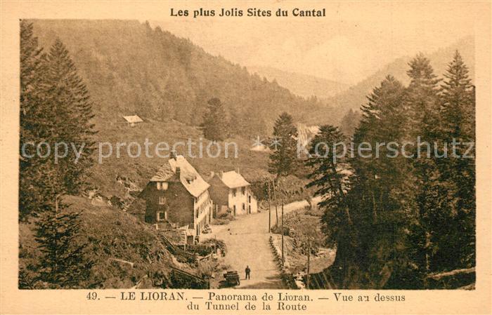 AK / Ansichtskarte Le_Lioran Panorama vue au dessus du Tunnel de la Route Le_Lioran 0