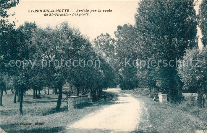 AK / Ansichtskarte Saint Romain la Motte Arrivee par la route de Saint Germain les ponts Saint Romain la Motte 0