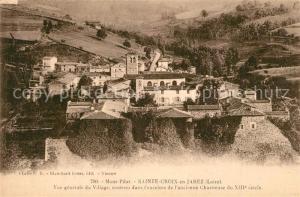 AK / Ansichtskarte Sainte Croix en Jarez Vue generale du village ancienne Chartreuse du XIIIe siecle Sainte Croix en Jarez