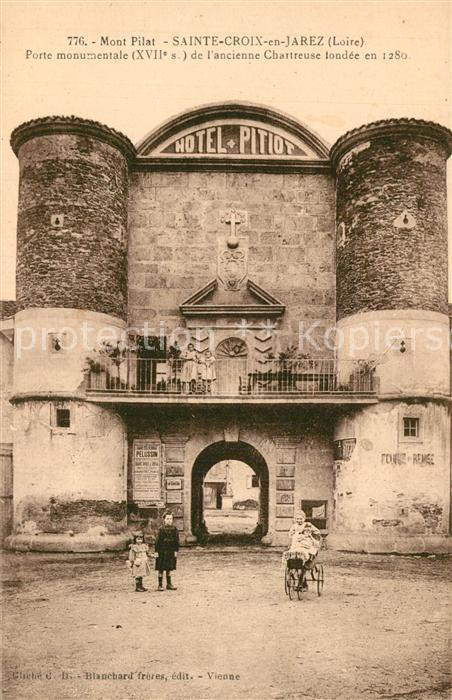 AK / Ansichtskarte Sainte Croix en Jarez Porte monumentale XVIIe siecle ancienne Chartreuse Sainte Croix en Jarez 0