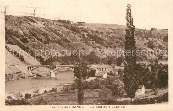 AK / Ansichtskarte Villerest Pont sur la Loire Villerest 0