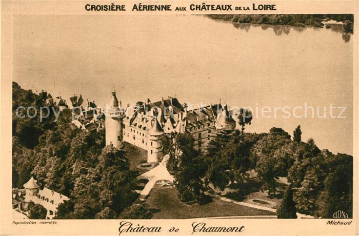 AK / Ansichtskarte Chaumont sur Loire Chateau de Chaumont vue aerienne Chaumont sur Loire 0