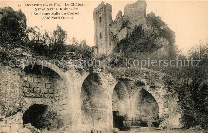 AK / Ansichtskarte Lavardin_Loir et Cher Ruines du Chateau ancienne Salle du Conseil Lavardin Loir et Cher 0