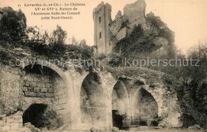 AK / Ansichtskarte Lavardin_Loir et Cher Ruines du Chateau ancienne Salle du Conseil Lavardin Loir et Cher