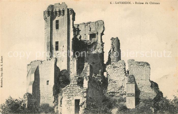 AK / Ansichtskarte Lavardin_Loir et Cher Ruines du Chateau Lavardin Loir et Cher 0