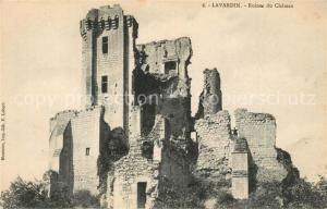 AK / Ansichtskarte Lavardin_Loir et Cher Ruines du Chateau Lavardin Loir et Cher