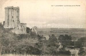 AK / Ansichtskarte Lavardin_Loir et Cher Chateau et la Plaine Lavardin Loir et Cher