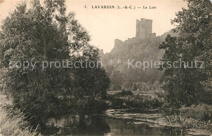 AK / Ansichtskarte Lavardin_Loir et Cher Bords du Loir Chateau Lavardin Loir et Cher 0