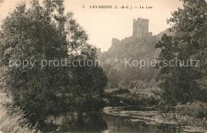 AK / Ansichtskarte Lavardin_Loir et Cher Bords du Loir Chateau Lavardin Loir et Cher