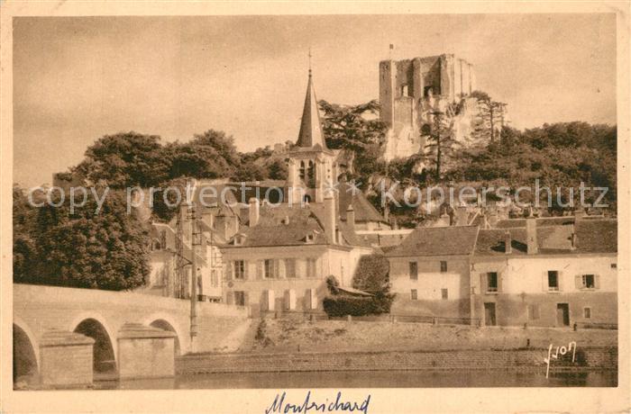 AK / Ansichtskarte Montrichard Pont sur la Loire vue sur la ville et chateau Montrichard 0
