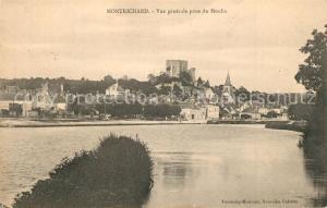 AK / Ansichtskarte Montrichard Vue generale prise du Moulin Chateau Montrichard