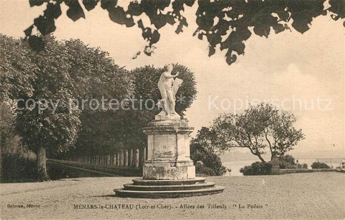 AK / Ansichtskarte Menars Monument Statue La Poesie Allees de Tilleuis Menars 0