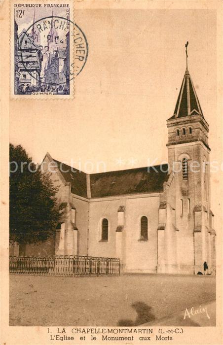 AK / Ansichtskarte La_Chapelle Montmartin Eglise et Monument aux Morts La_Chapelle Montmartin 0