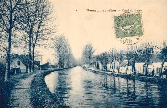 AK / Ansichtskarte Mennetou sur Cher Canal du Berry Mennetou sur Cher 0