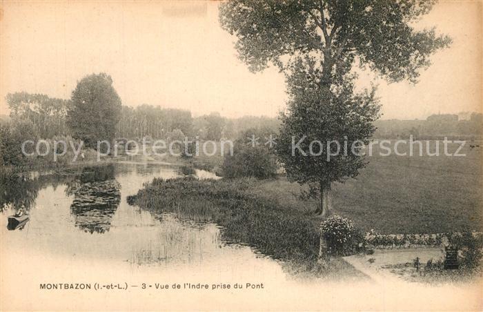 AK / Ansichtskarte Montbazon Vue de l Indre prise du pont Montbazon 0