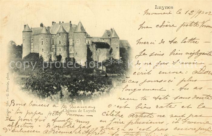 AK / Ansichtskarte Luynes_Indre et Loire Chateau Luynes Indre et Loire 0